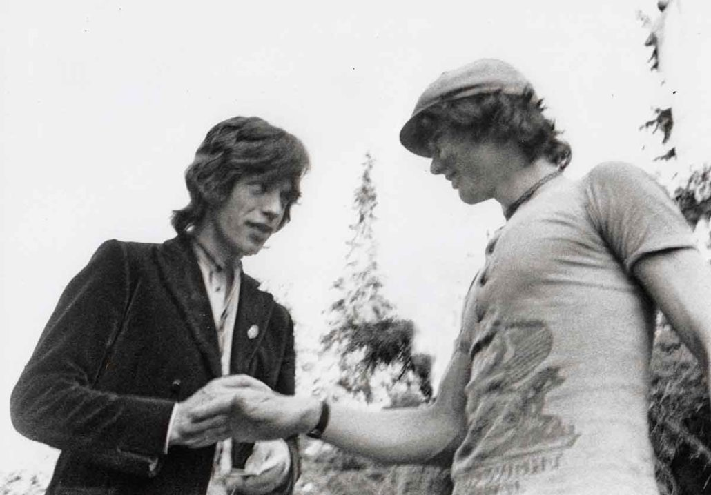 Mick Jagger and Frans Verpoorten