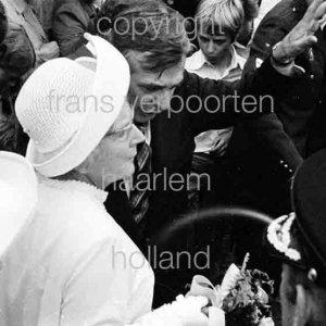 Koningin Juliana bezoekt Haarlem 1972